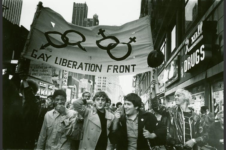 gay liberation front marchers in New York