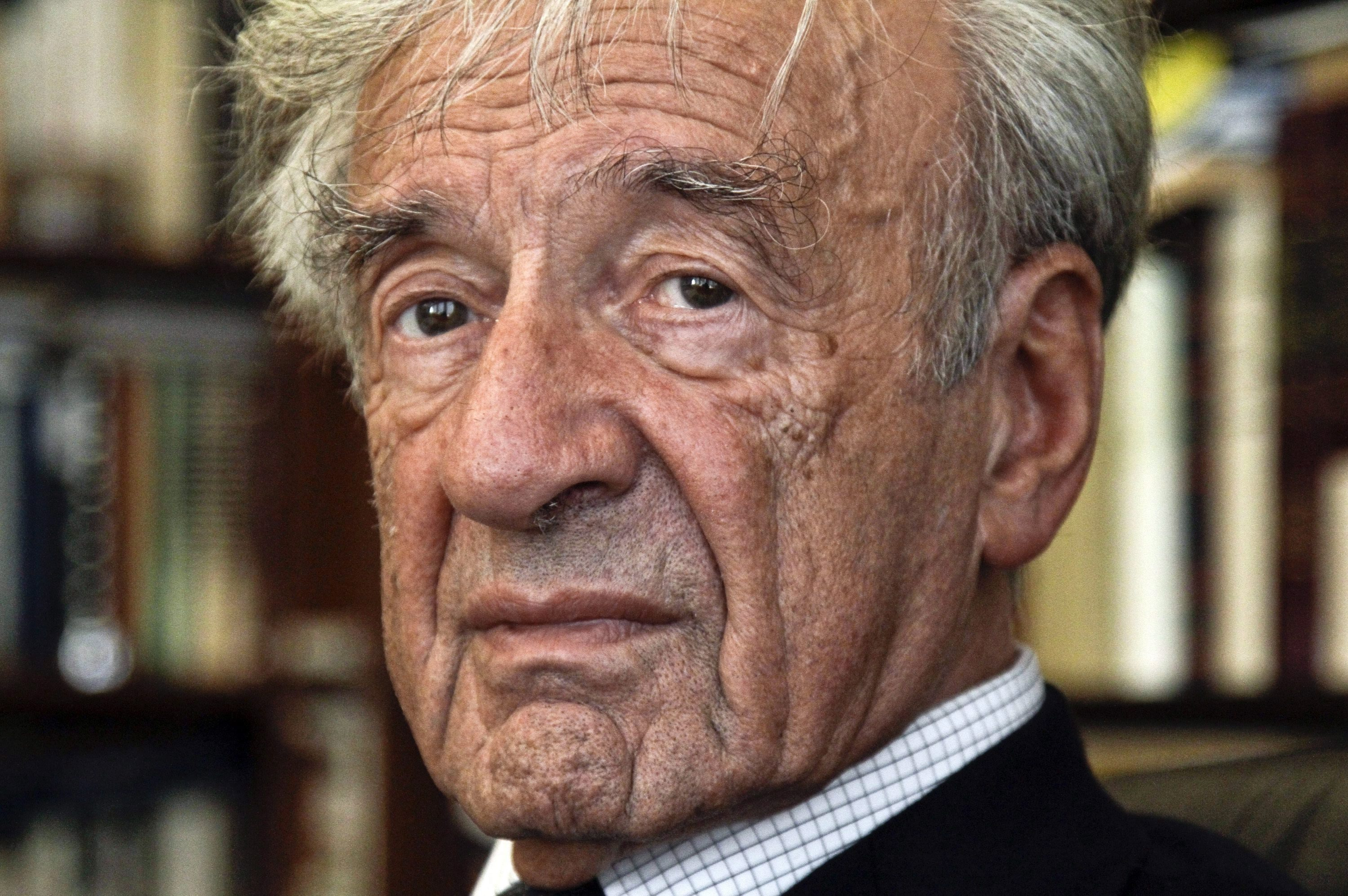 The late Elie Wiesel is seen in this 2012 photograph.