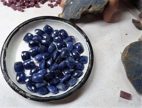 Sapphire secrets: they aren't all blue, and mining them requires