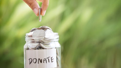 Fewer Americans are giving money to charity but total donations are at record levels anyway