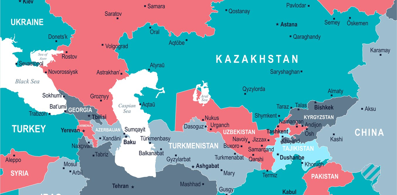 Kazakhstan Russia Map.Central Asia Is The New Economic Battleground For The Us China And