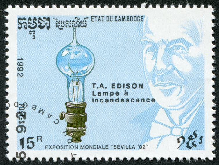thomas edison stamp