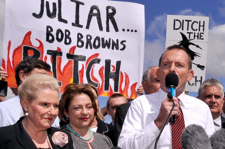 Sexist abuse has a long history in Australian politics – and takes us all to a dark place