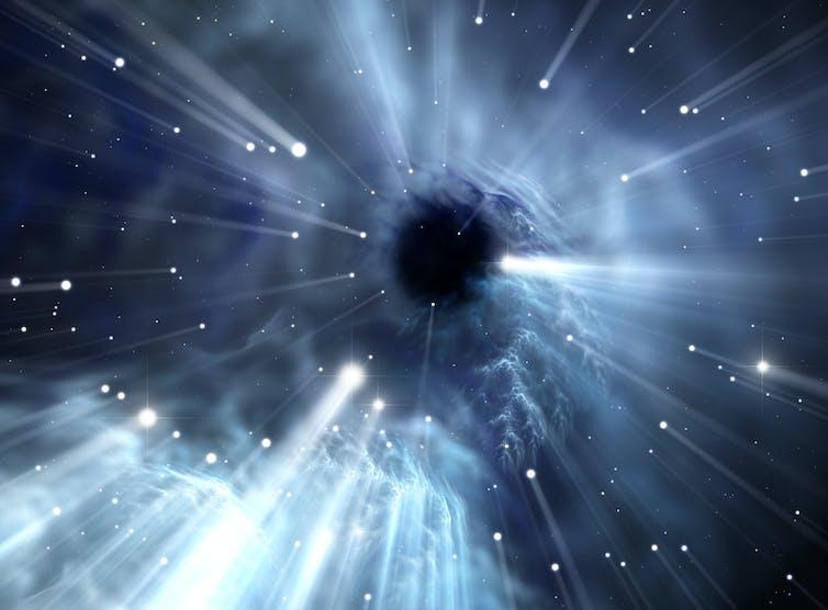 Where do black holes lead to?