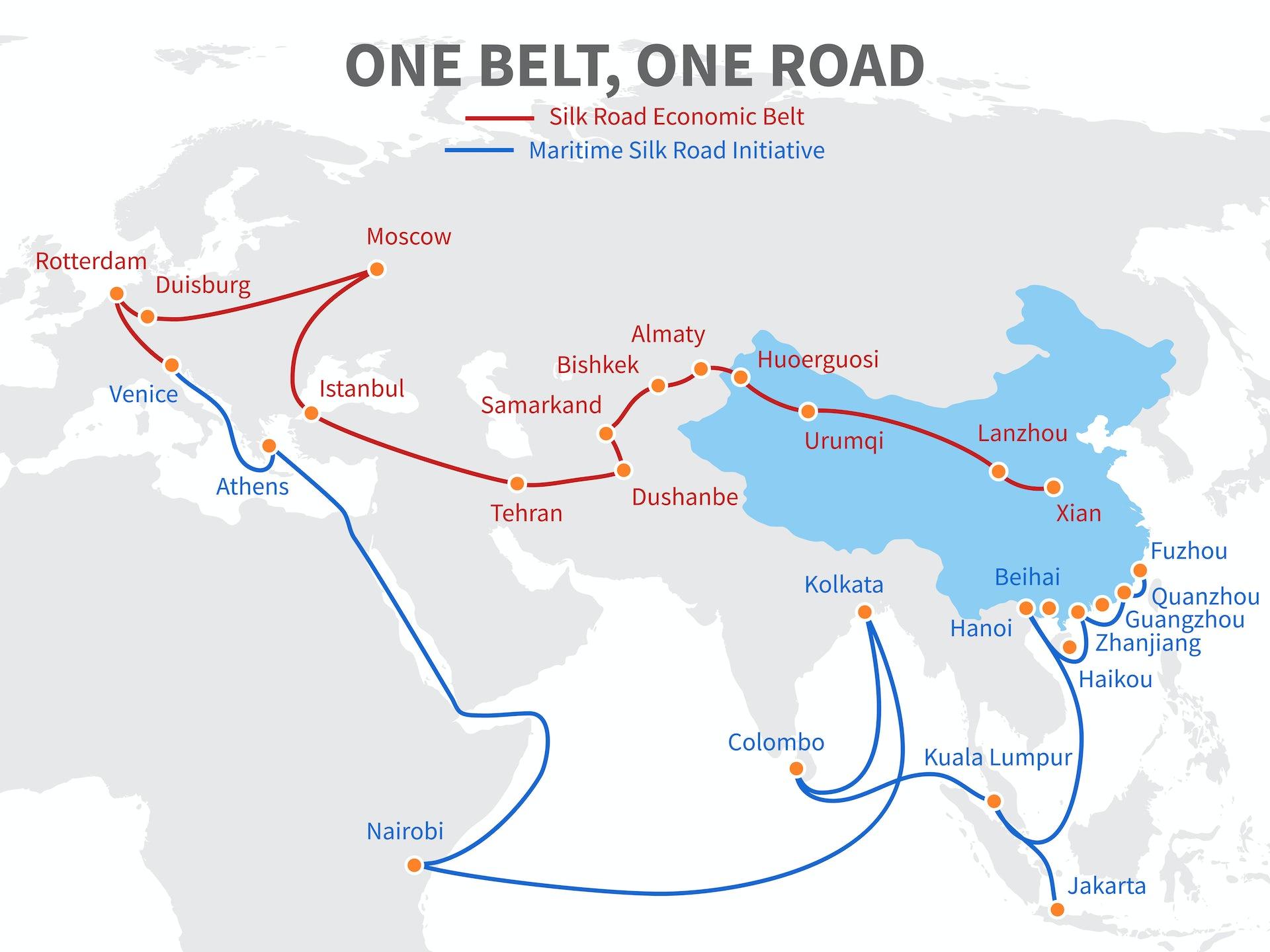 China's BRI initiative.Shutterstock