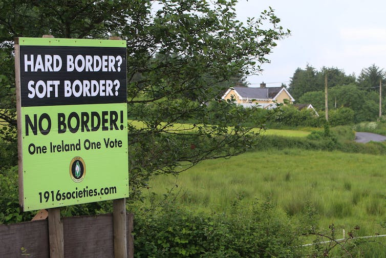 The issue of an Irish border has been a sticking point so far. EPA-EFE/Paul McErlane
