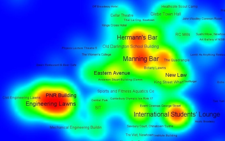 Meet me at the bar! How uni students interact on a campus, and why chocolate can help