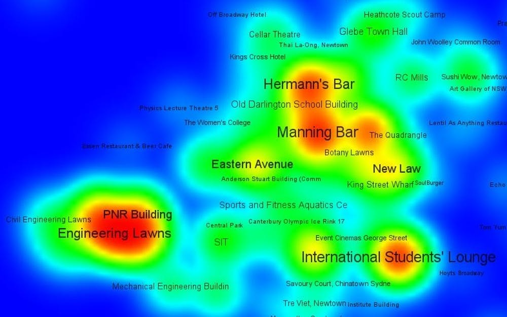 Meet me at the bar! How uni students interact on a campus