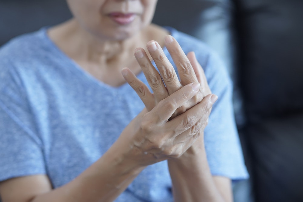 Osteoarthritis is caused by joint overuse, obesity and advanced age.from www.shutterstock.com