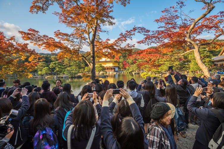 Kyoto tourists