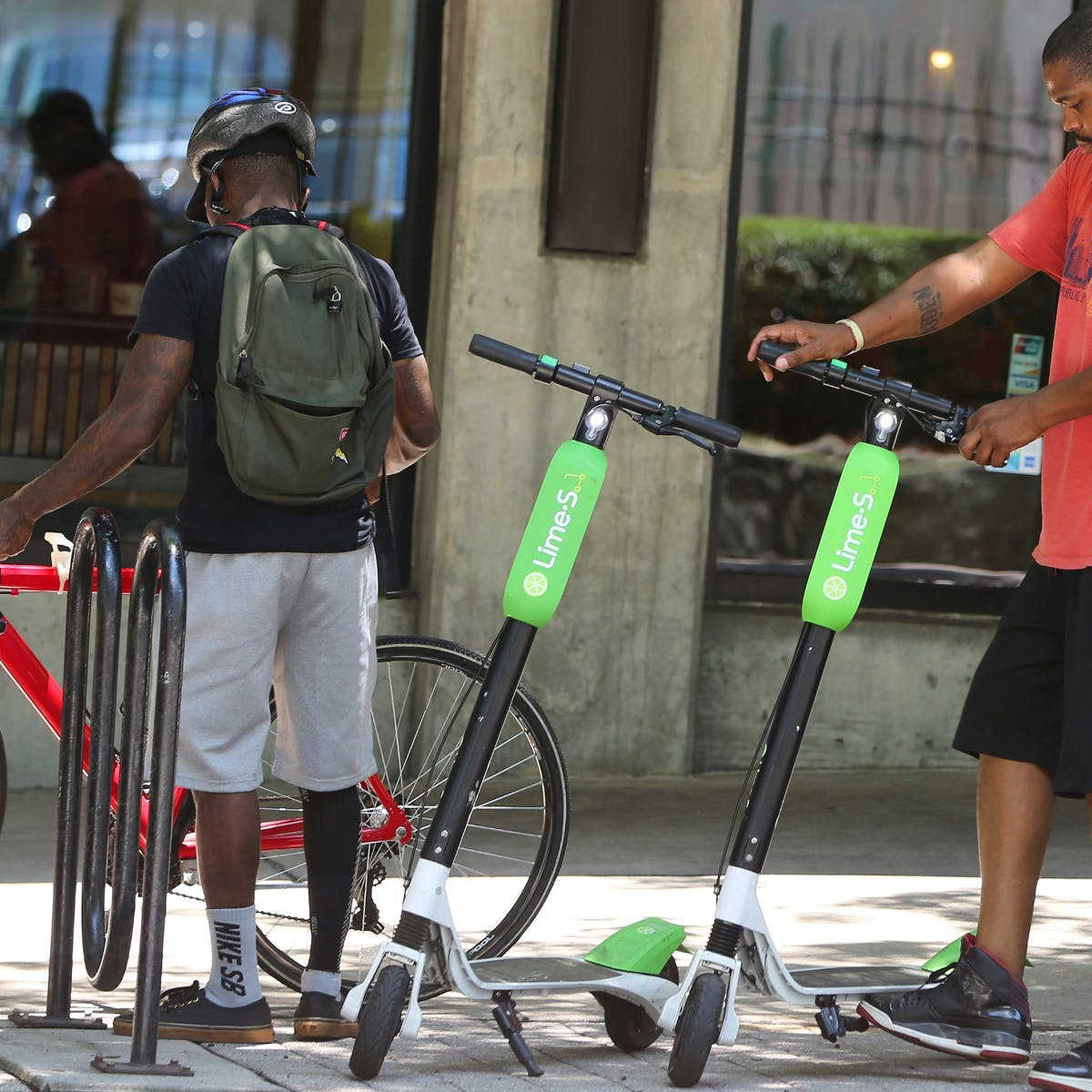 Electric scooters on collision course with pedestrians and