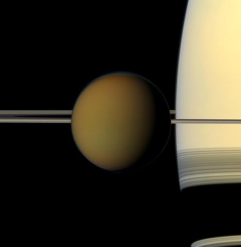 Capturing the shadow of Saturn's moon Titan from right here