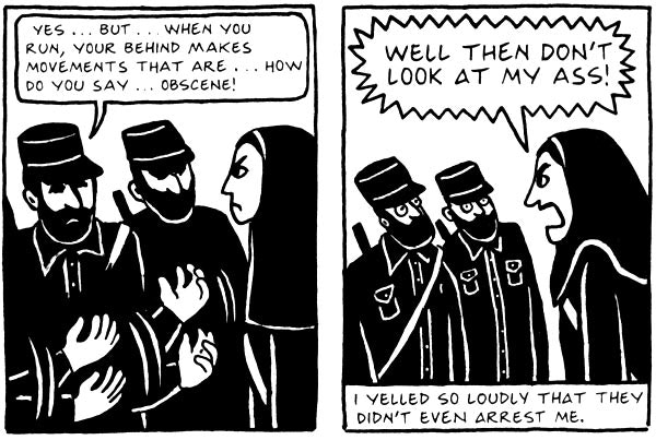 A woman's voice: Persepolis by Marjane Satrapi. Credit: Pantheon Books