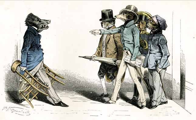 An illustration by celebrated 19th-century caricaturist Gérard Grandville.