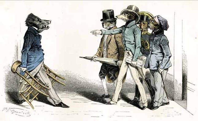 An illustration by celebrated 19th-century caricaturist Gérard Grandville.