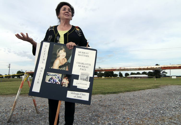 A 2010 photo of a victims advocate Ann Pace who supports the death penalty.AP Photo/Rogelio V. Solis