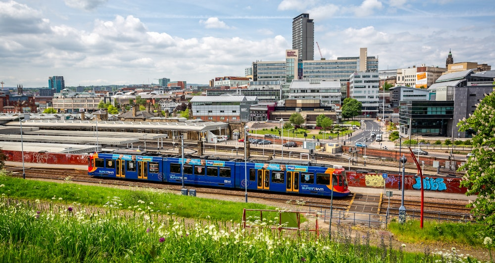Under the Northern Powerhouse plan, cities like Sheffield would be stimulated by new transport connections (image: shutterstock.com)