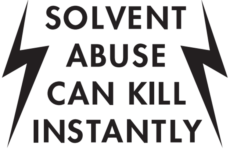 Image result for solvent abuse sign