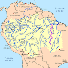 The dam is located about 200km before the 1,640km Xingu meets the Amazon. kmusser, CC BY-SA