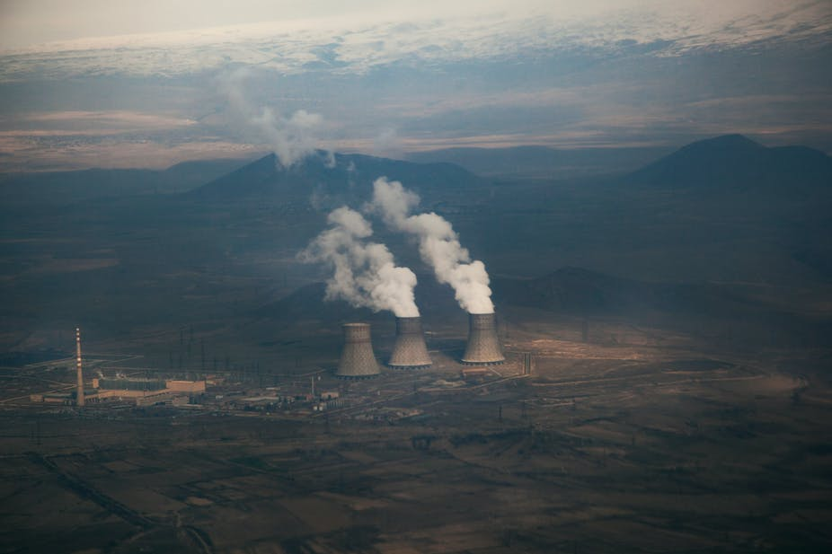 ignoring the human actions of auto and factory emissions