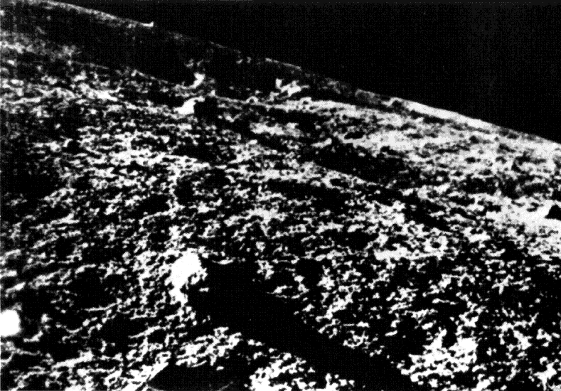 moon surface first close-up image 1966