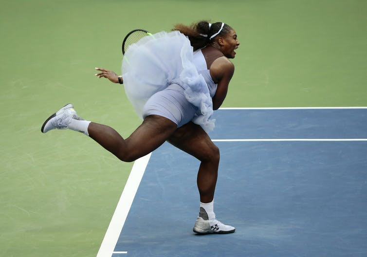 Serena Williams Serves During The Fourth Round Of U S Open On Sept 2 Ap Photo Andres Kudacki