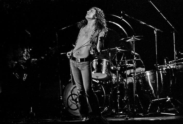 Led Zeppelin no palco