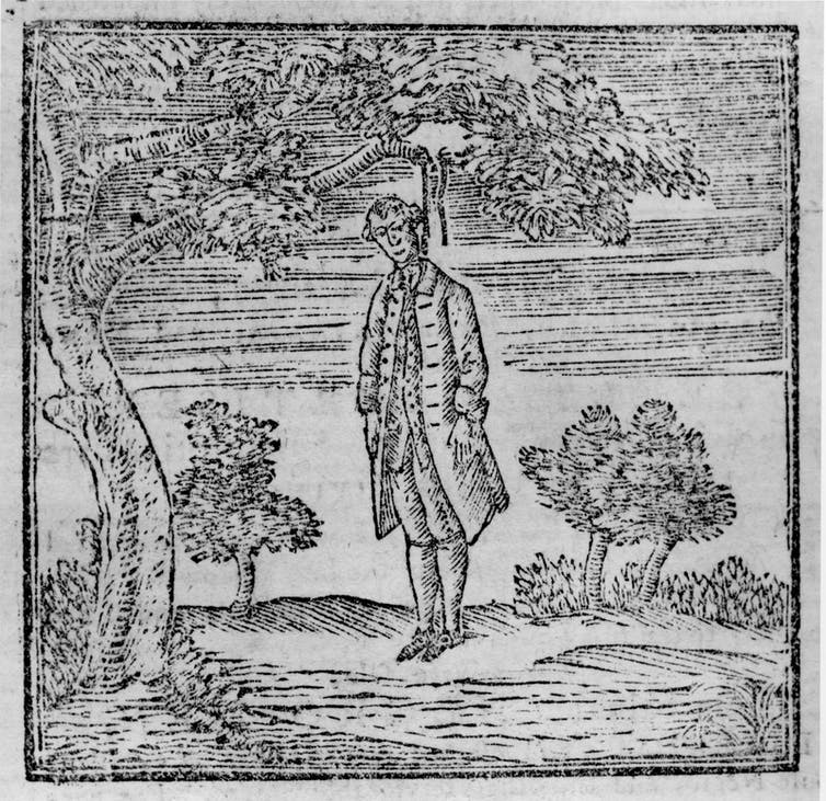 New York newspaper publisher and loyalist James Rivington was hanged in effigy in 1775.  The Junto