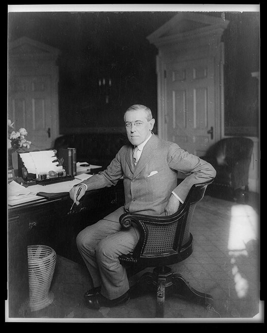 President Woodrow Wilson wanted to build a case against the Bolsheviks. Library of Congress
