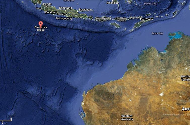 Unknown wonders Christmas Island – Map of Christmas Island and Australia