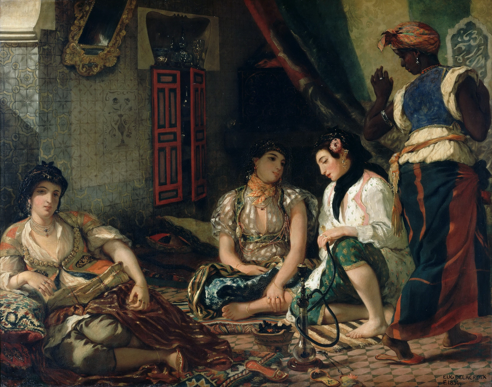 Delacroix returned from his trip to North Africa inspired. He would go on to paint 'The Women of Algiers in Their Apartment' (1834)