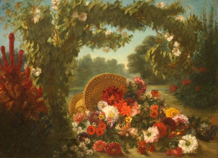 Eugene Delacroix's 'Basket of Flowers' (1848-49)