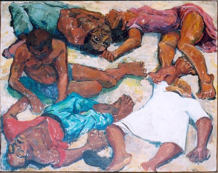 Painting of the Sharpeville massacre in 1960.Godfrey Rubens