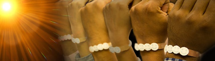 New colour change wristbands help you balance too much sun vs not enough – no matter your skin tone