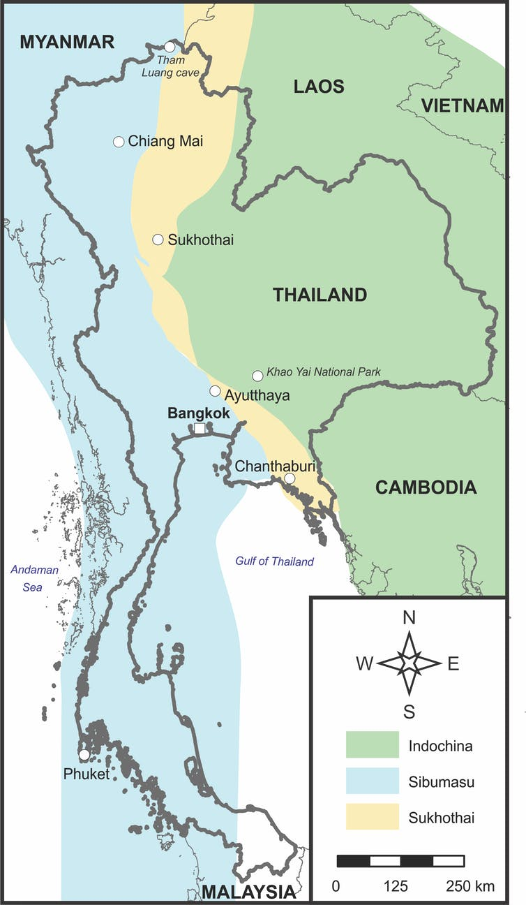 When Thailand and Australia were closer neighbours, tectonically speaking