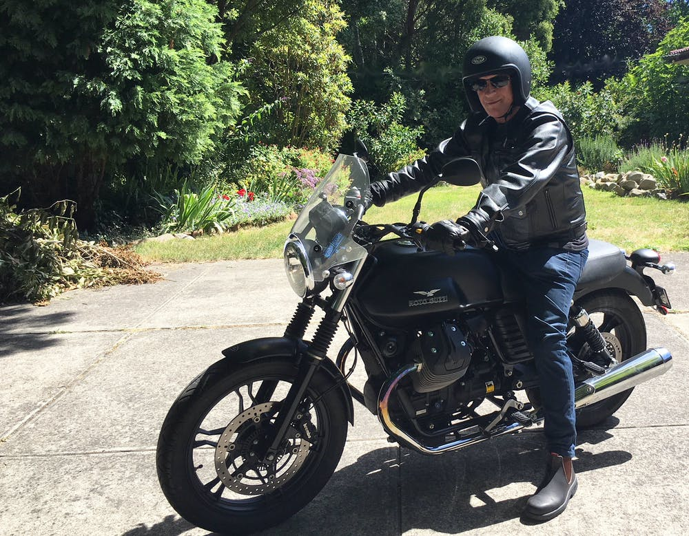 John Long On His Motorcycle Author Provided