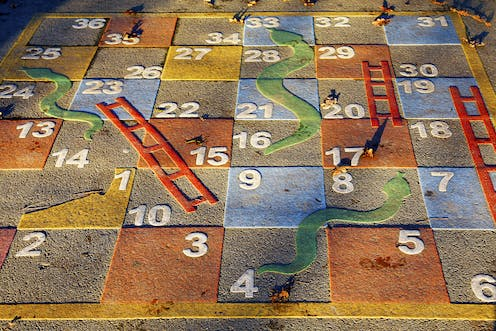 Spirals and circles, snakes and ladders. Why women's super is complex