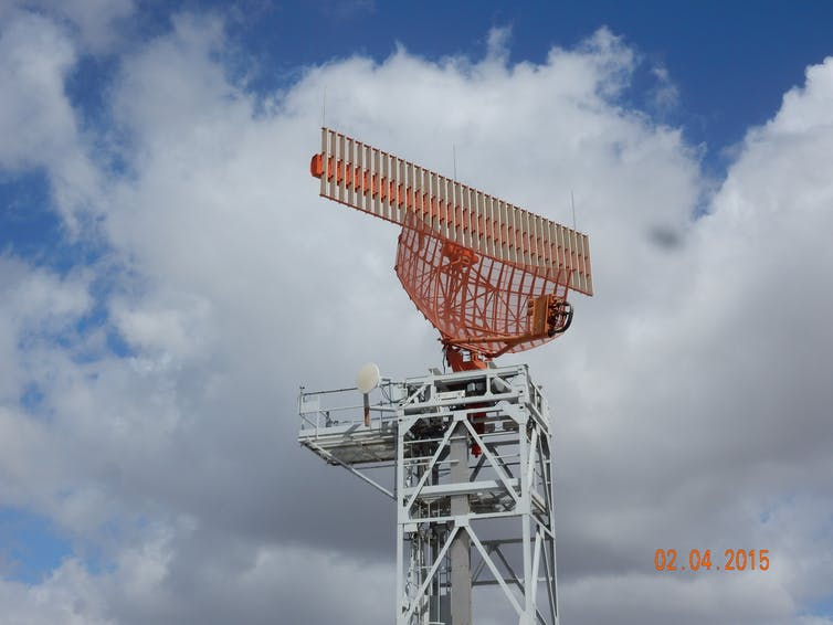 A secondary radar at Melbourne Airport