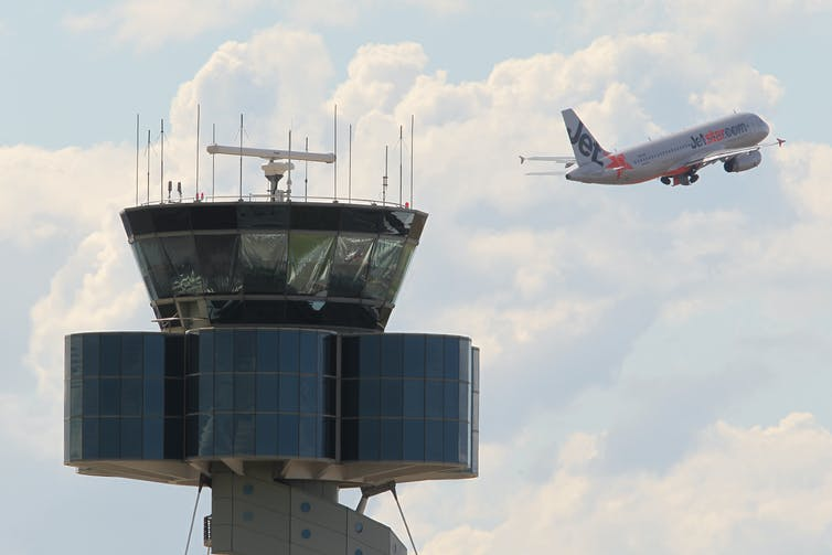 Airservices control tower at Sydney Airport