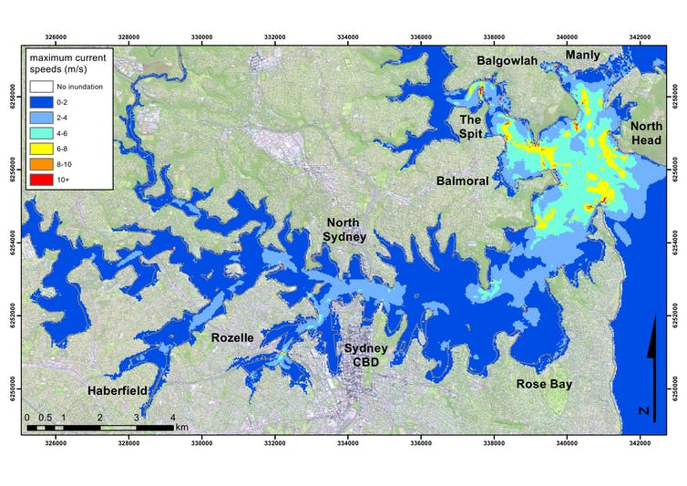 Yes, a tsunami could hit Sydney – causing flooding and dangerous currents