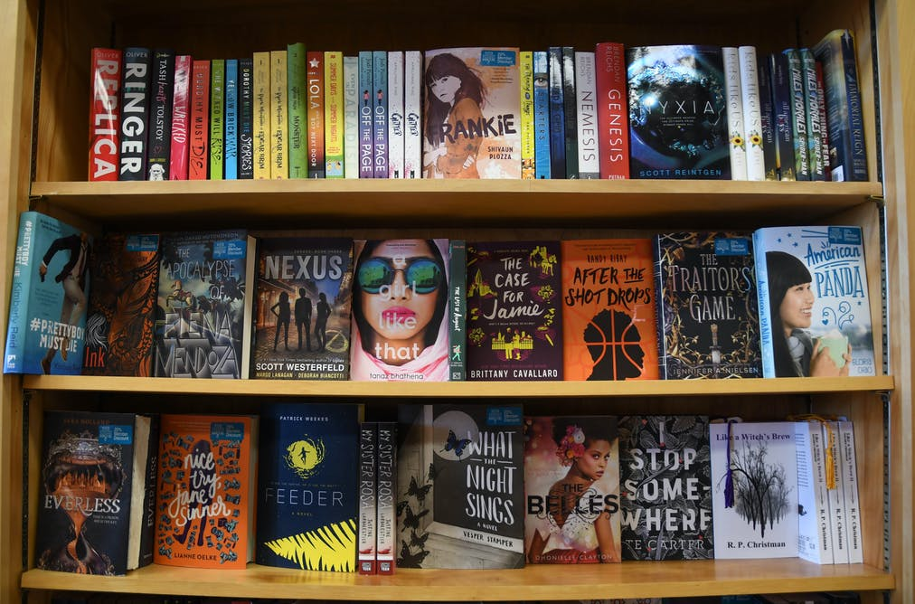 Young adult fiction books on display at an independent bookstore. Andrew  Cline/www.shutterstock.com