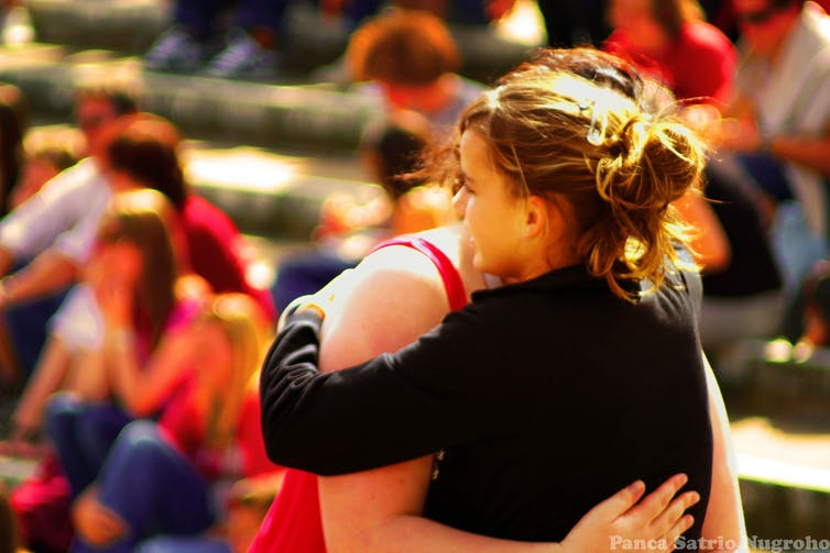 The power of a hug can help you cope with conflict