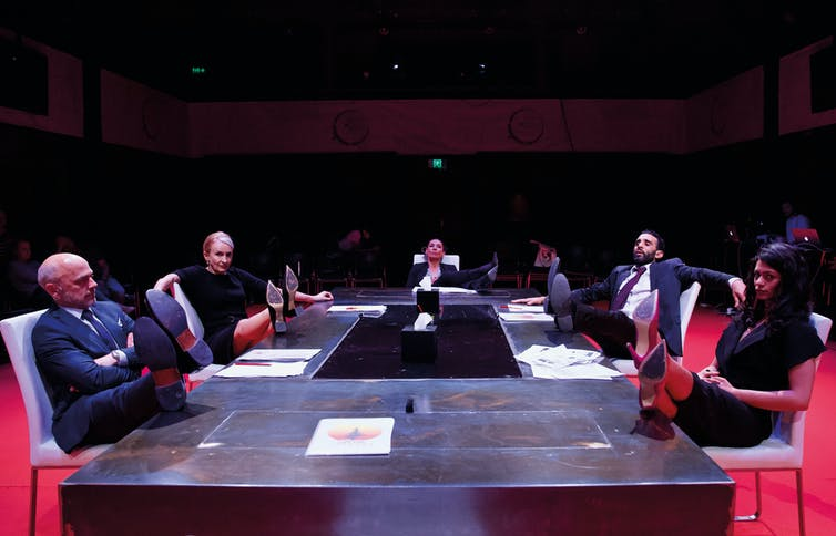 In Trustees, Belarus Free Theatre mercilessly demolishes Australia's cultural debate
