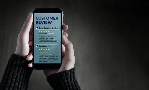 the customer reviews most likely to influence purchasing decisions