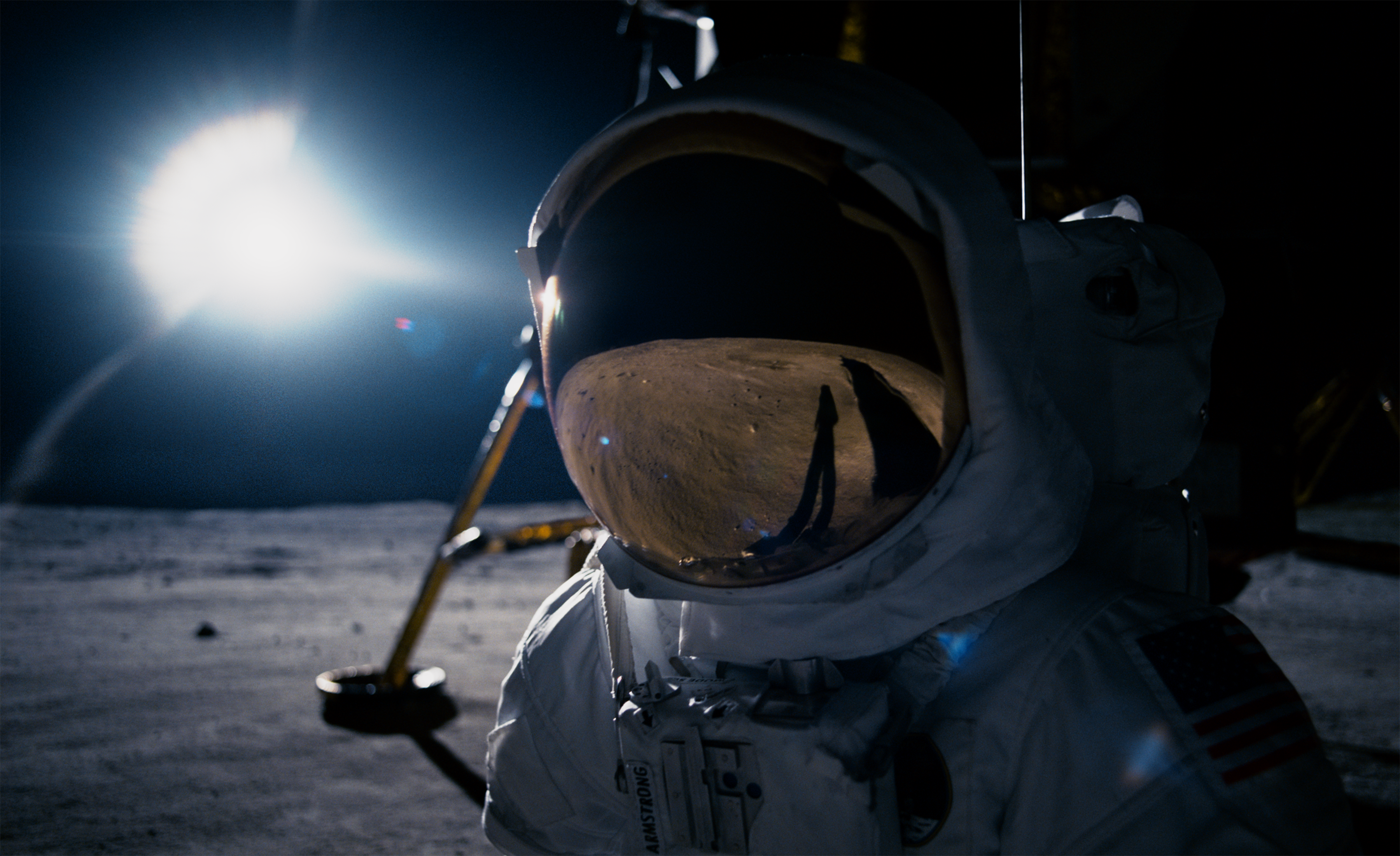 First Man: Ryan Gosling as Neil Armstrong, the first man on the Moon