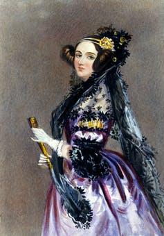 Painted portrait of Ada Lovelace