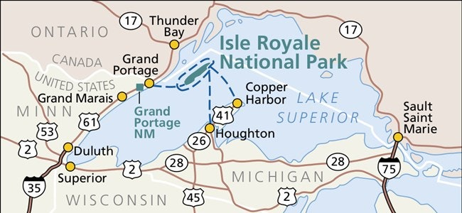 Map of Isle Royale
