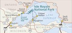 Map of Isle Royale