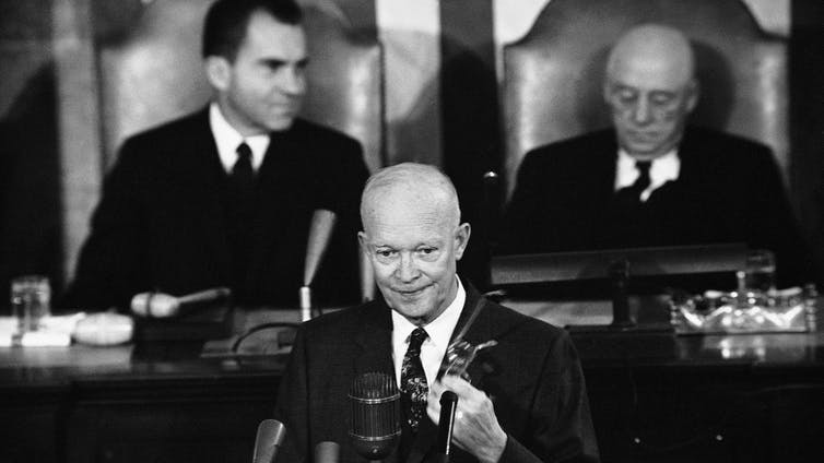 President Eisenhower addressing a joint session of Congress in 1958