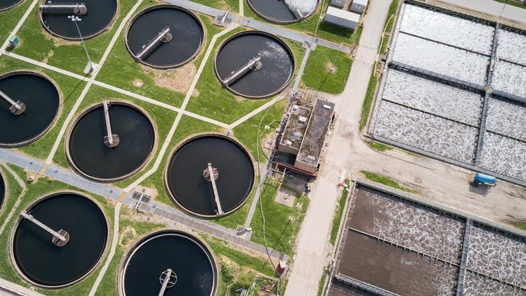 A waste water treatment processing plant in North London. Pxl.store/Shutterstock.com